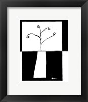 Framed Minimalist Flower in Vase III