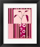Framed Minimalist Flowers in Pink II