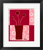 Framed Minimalist Flowers in Pink III