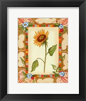 Framed French Country Sunflower I