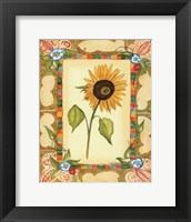 Framed French Country Sunflower II