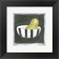 Framed Pear in Bowl