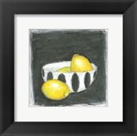 Framed Lemons in Bowl