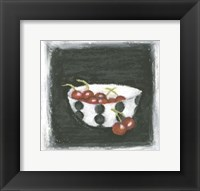 Framed Cherries in Bowl