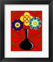 Framed Riki's Stylized Flowers I