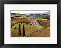 Framed Tuscany Afternoon I