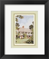 Framed Charming West Indian Plantation House