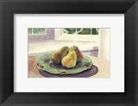 Framed Still Life with Pears in a Sunny Window