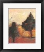 Framed Printed Sonoma Hills II