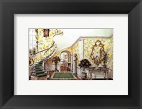 Framed Graceful Staircase Hall in the Carolinas