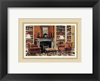 Framed Cozy Neoclassical Book Rooms