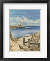 Framed Lighthouse View I