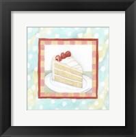 Framed Vanilla Cake