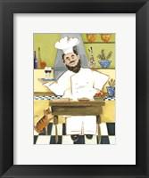 Framed Jolly French Chef