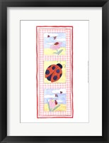 Framed Lady Bug Trio