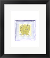 Framed Frog with Plaid (PP) III