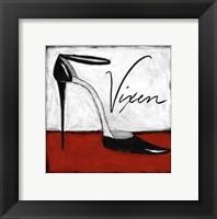Vixen on Red Framed Print