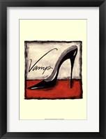 Vamp on Red Framed Print