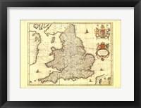 Framed Anglia Map