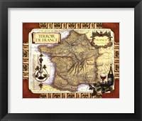 Framed Medium Wine Map (H) II