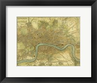 Framed Map of London