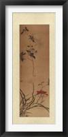 Framed Oriental Silk II