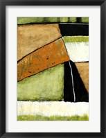 Acid Green Asphalt I Framed Print