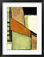 Acid Green Asphalt II Framed Print