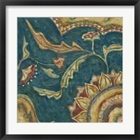 Lapis Paisley I Framed Print