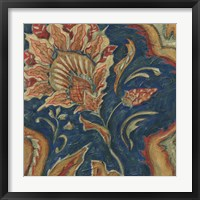 Lapis Paisley II Framed Print