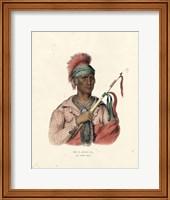 Framed Ioway Chief