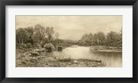 Framed Tranquil Riverscape IV