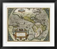Framed Novi Orbis Map