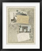 Framed Vintage Map of Paris