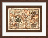Framed World Map with Globe