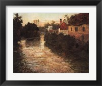 Framed Village on the Bank of a Stream
