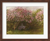Framed Resting under the Lilacs