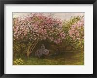 Framed Resting under the Lilacs
