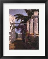 Framed Bougainvillea & Palm Trees