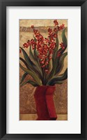Framed Red Baby Orchids