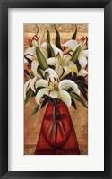 White Lilies Framed Print