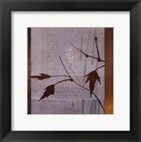 Framed Umber Leaves