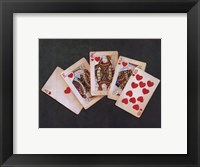 Framed Royal Flush