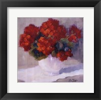 Framed Red Geraniums