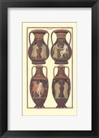 Framed Greek Vases