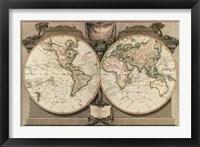 Framed New Map of the World