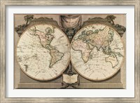 Framed New Map of the World