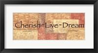 Framed WTlb ButterscotchCherish, Live Dream