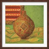 Framed Pot oriental dor