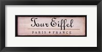 Framed Tour Eiffel
